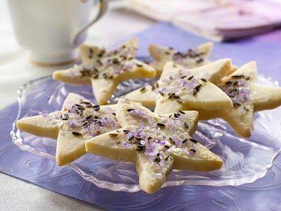 Lemony Lavender Shortbread Cookies