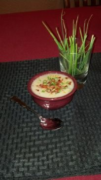 Bacon Cheese Cauliflower Soup