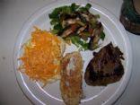 Steak, eggs and veggie breakfast