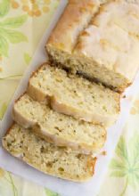 Lemon Zucchini Loaf with Lemon Glaze