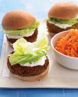 Mediterranean Veggie Burgers with Mint-Yogurt Sauce