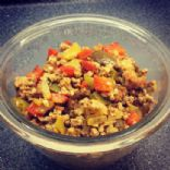 Spicy Ground Turkey and Peppers