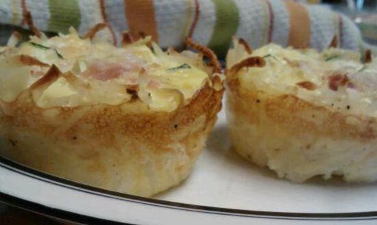 Ham Egg Baskets Recipe Sparkrecipes