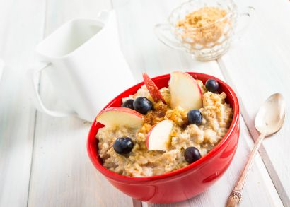 Breakfast Quinoa with Blueberries
