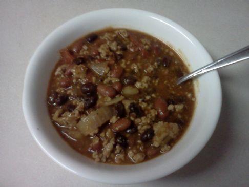 Turkey Chili- Jamie Eason's Recipe