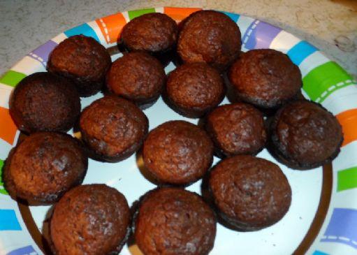 Jiffy chocolate pecan flax mini muffins