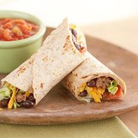 Beef & Black bean Wraps