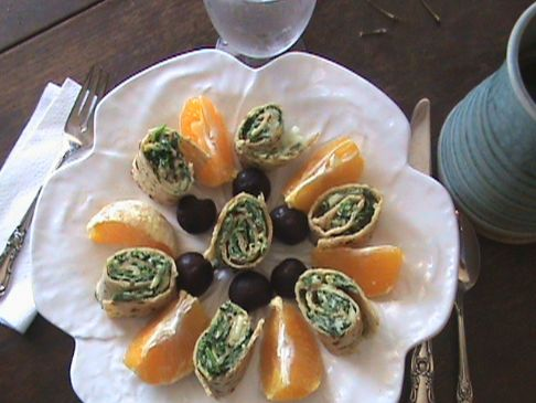 Spinach Fritata Party Pinwheels
