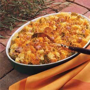 Colorful Pasta With Ham Recipe Sparkrecipes