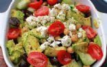 Avocado Chickpea Cucumber & Tomato Salad