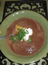 Peachy Black Bean Soup