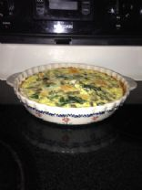 Mushroom and Spinach Dinner Quiche