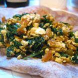 Salsa-Tofu Breakfast scramble