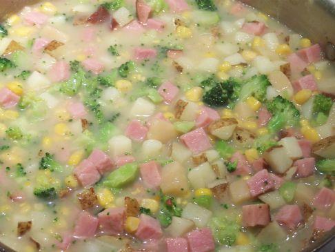 Quick Ham and Potato Soup