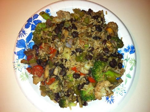 Balsamic Black Bean & Rice Dinner