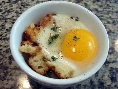Breakfast Eggs En Cocotte Recipe Sparkrecipes