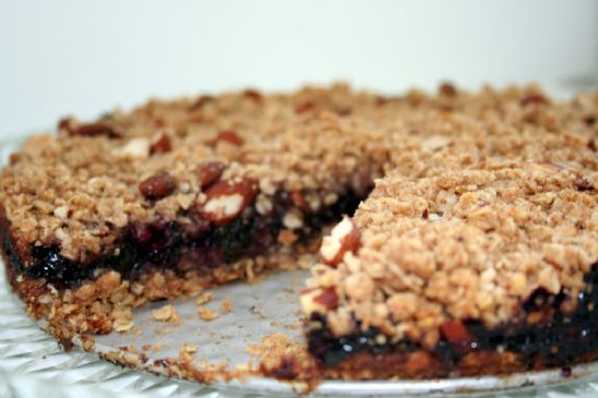 Blueberry Spinach Crumble Bars
