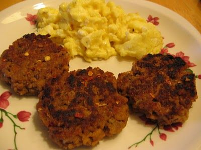 Low Carb TVP Sausage Patties (Vegetarian Underground)