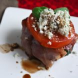Proscuitto-Wrapped Bison Burgers with Blue Cheese