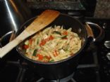 Penne Pasta with Chicken, Grape tomatoes & Zuchinni