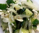 Fresh Cucumber-Feta Salad w/Mint & Dill