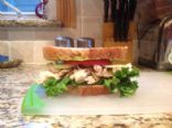 Snow shoveling chicken avocado sandwich