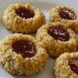 Thumbprint cookies with jam