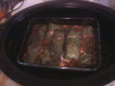 Pork and Pinapple Stuffed Cabbage Leaves