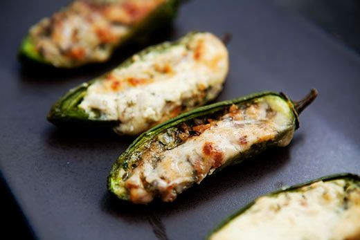 Easy Baked Stuffed Jalapeno Peppers