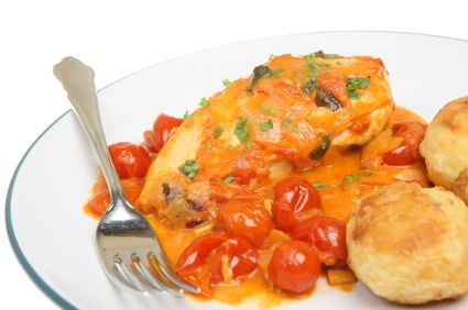 Chicken Breasts with Red Wine Sauce (Chicken Cacciatore)