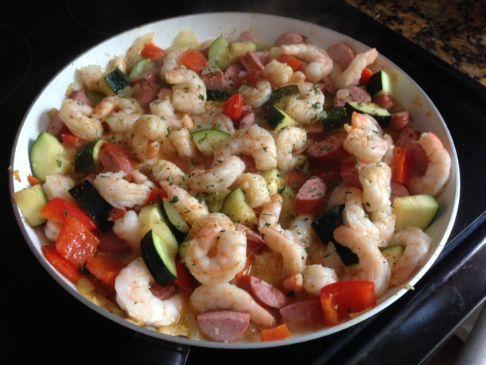Shrimp and Sausage Skillet