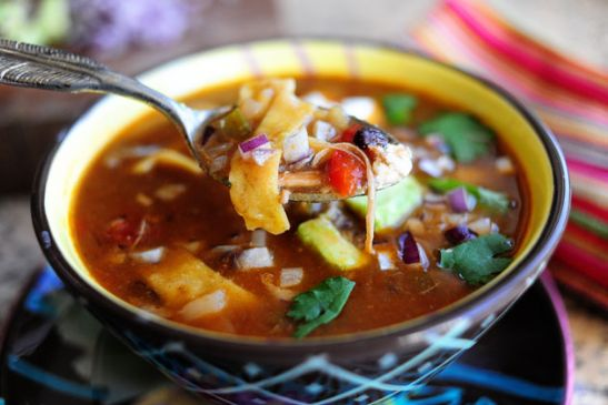 Pioneer Woman's Chicken Tortilla Soup
