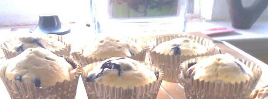 Lemon Blueberry muffins with vanilla bean