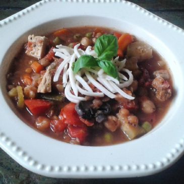 Italian Chick'n-Lentil Soup
