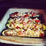 Taco-ish Zucchini boats