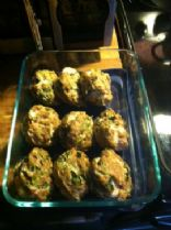 Turkey Spinach Parmesan Muffins