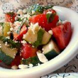 Tomato, Cucumber, Feta, Basil salad