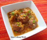 Vegetarian Manchurian (rice balls)