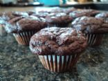 Chocolate banana baby muffins