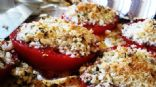 Grilled Tomatoes with Panko Bread Crumbs and Cheese