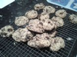 Little oaty choc raisin cookies - small batch!