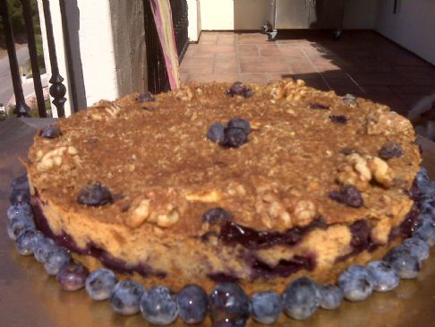 Vegan Blueberry Apple Walnut & Oat Pie!