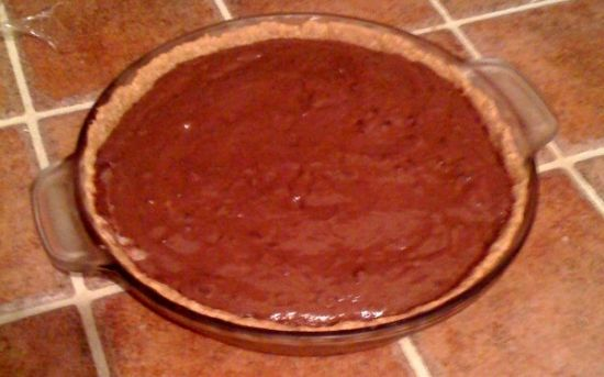 Chocolate Pudding Pie with Homemade Graham Cracker Crust