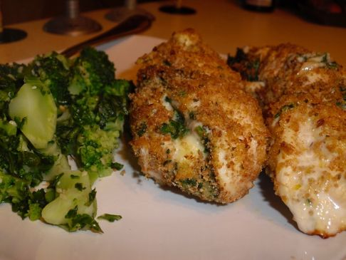 Garlic Spinach and Horseradish Stuffed Chicken