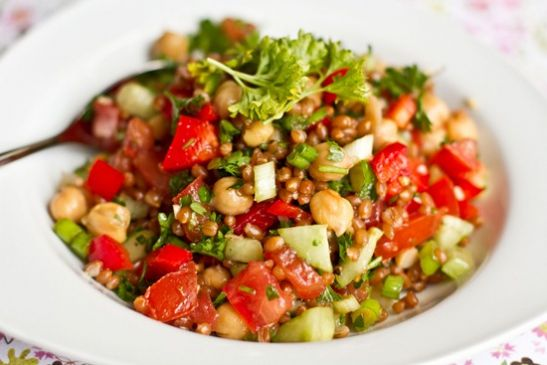 Wheat Berry and Bean Salad
