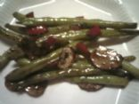 Fresh Green Bean Balsamic Stir Fry