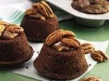 Chocolate Pecan Turtle Protein Muffins