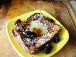 Coconut Crusted French Toast Stuffed With Fresh Berry Cream Cheese Filling
