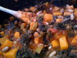 Butternut Squash - White Bean - Kale Stew