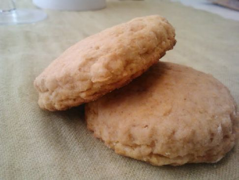 Fiber filled sweet potato biscuits